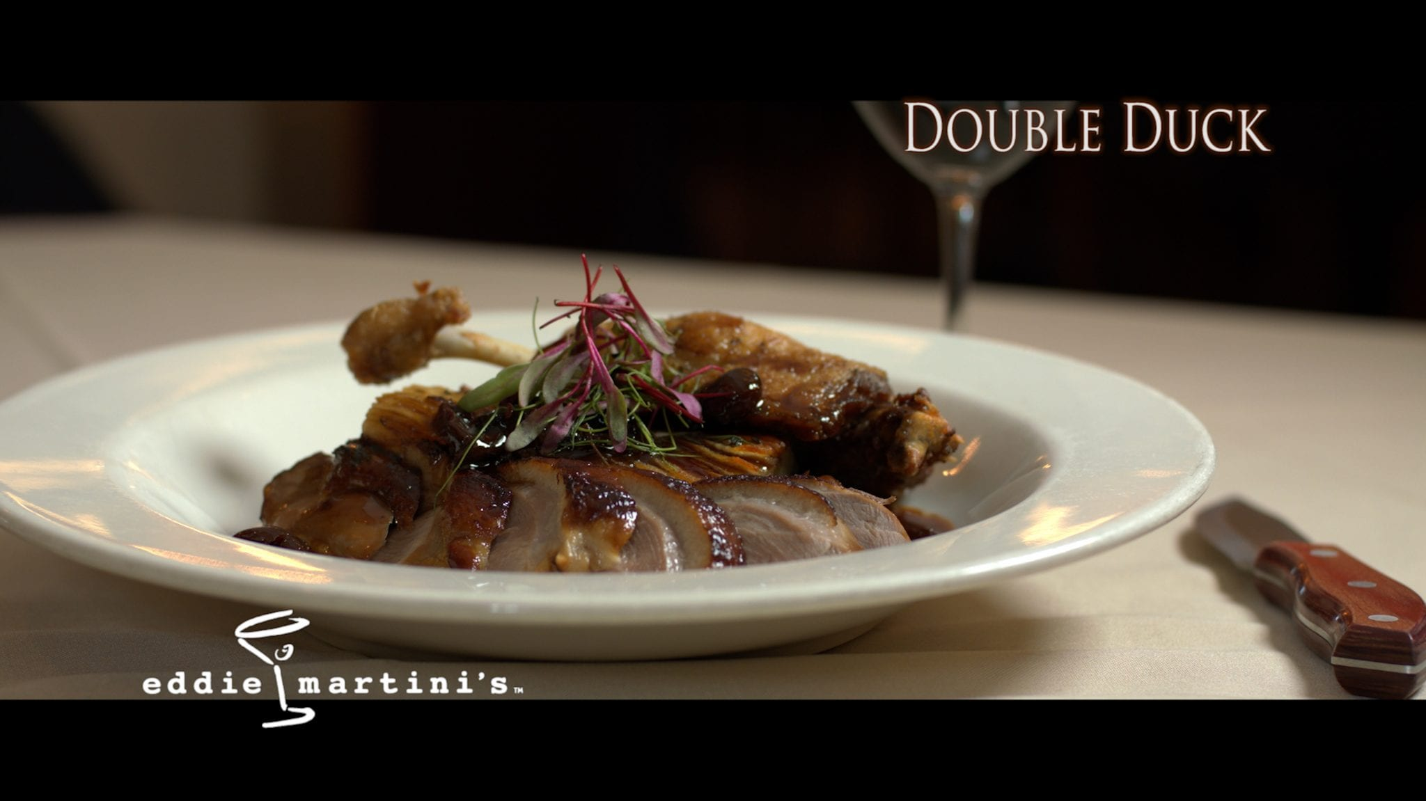 Double Duck dish from Eddie Martini's steaks, chops, and seafood in Wauwatosa, Wisconsin