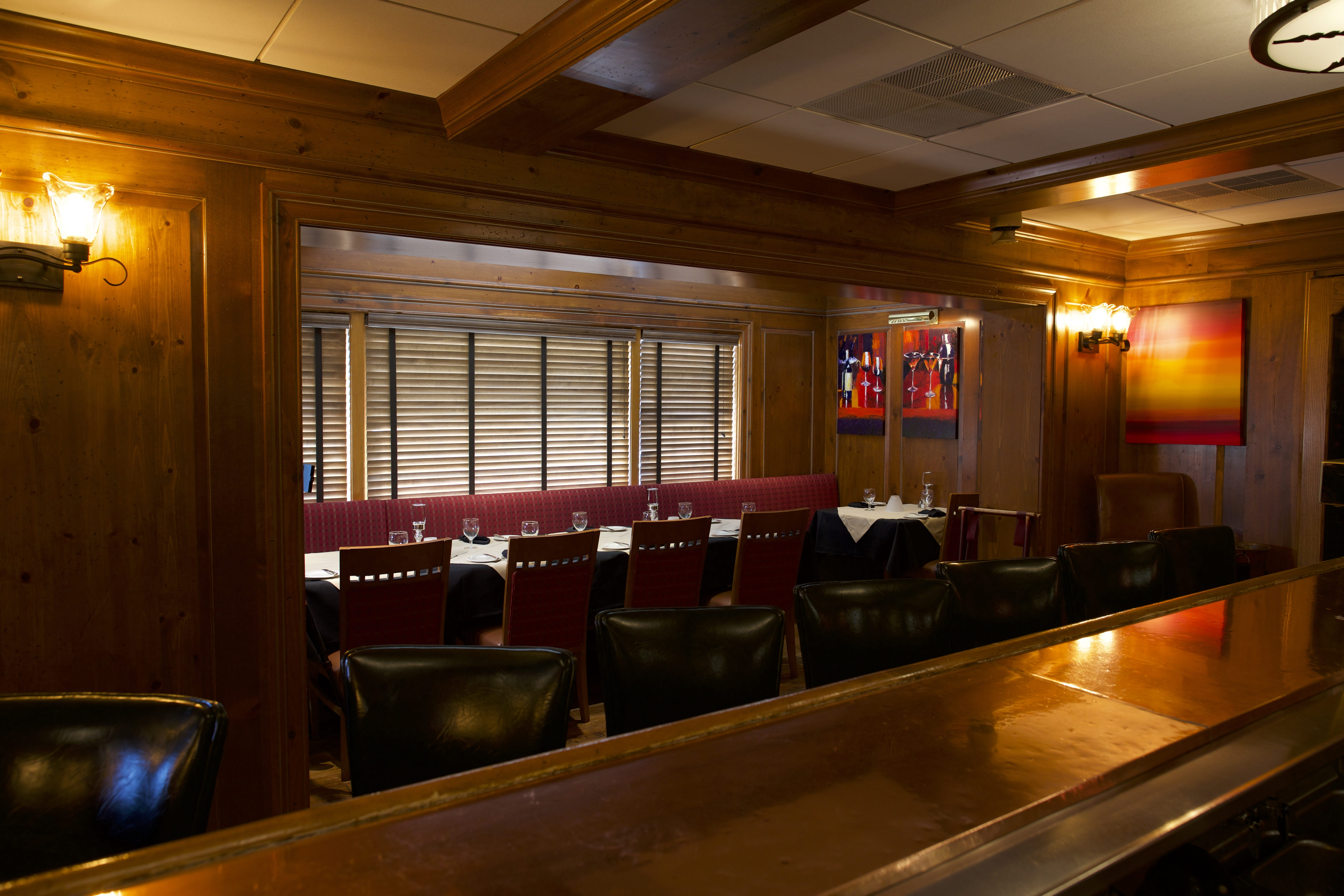 Clubroom, space for business or casual dining at Eddie Martini's